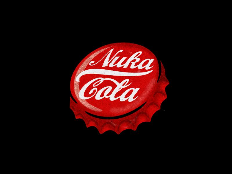 Nuka Cola Bottlecap With Ink Splatter Fallout Tattoo Ink Splatter Ink
