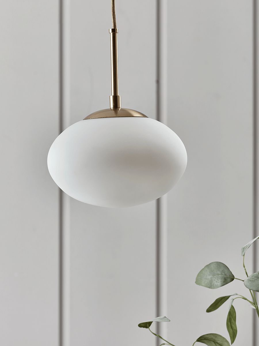 Ceiling Pendant Lights New Oversized Frosted Glass Brass Pendant In 2019 Cox Cox