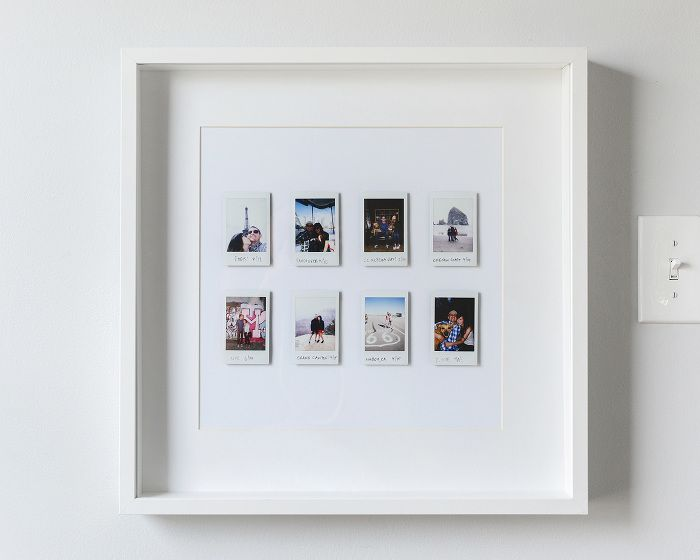A Fun and Easy Instant Photo Display | Pinterest | Polaroid frame ...
