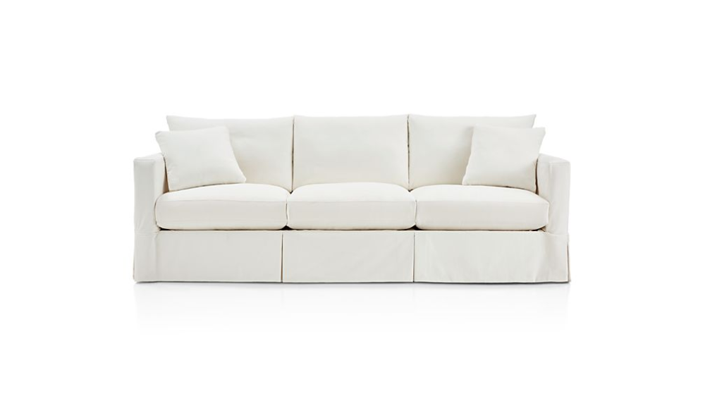 Willow 103 Grande Modern Slipcovered Sofa Reviews Crate And