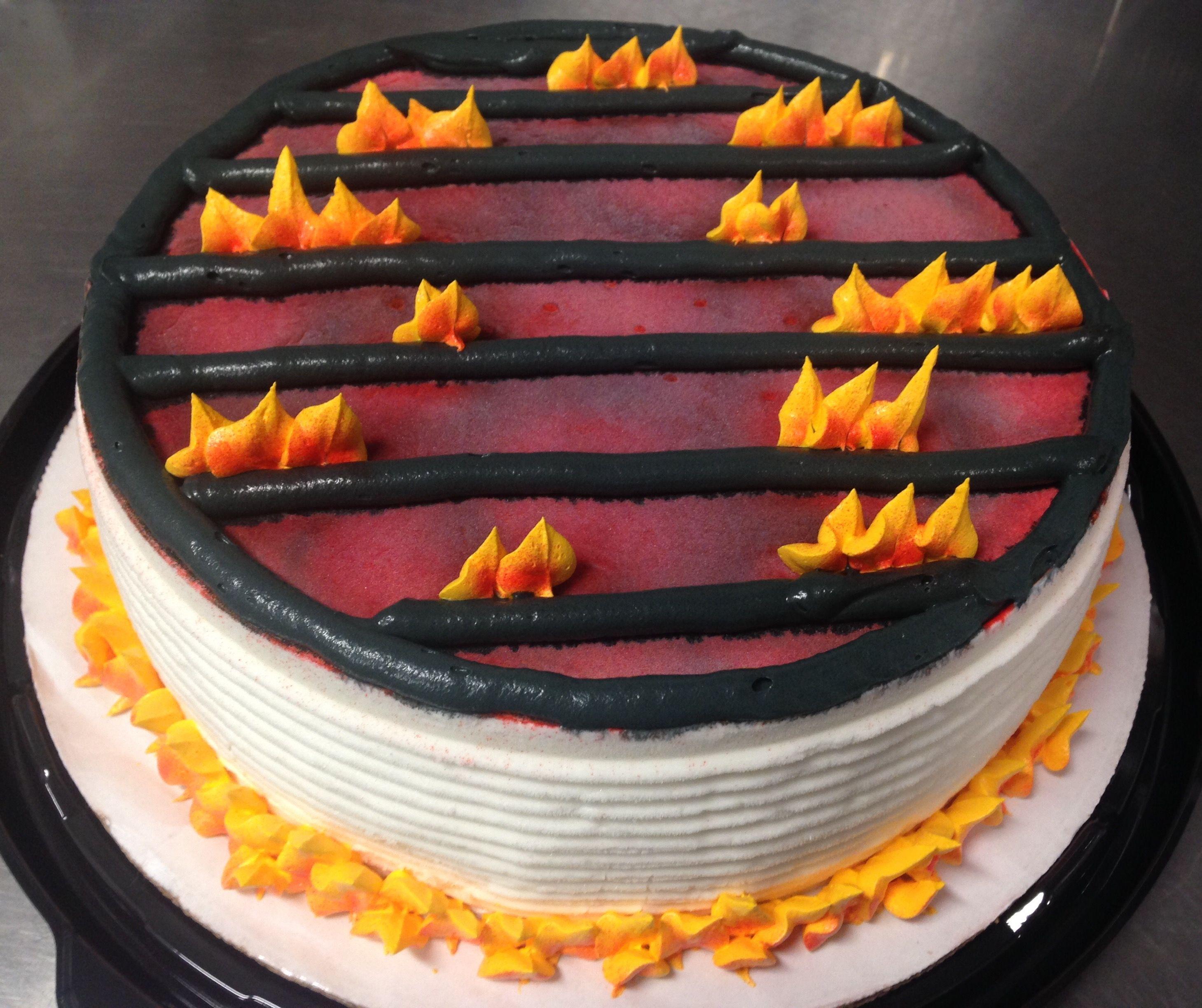 Bbq grill dq ice cream cake bbq cake cake decorating