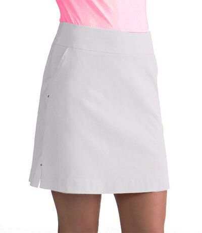 """beff30e7998ef Jump Start Bette   Court Swing Ladies Smooth Fit 18.5"""" Pull On White Golf  Skort at  lorisgolfshoppe"""