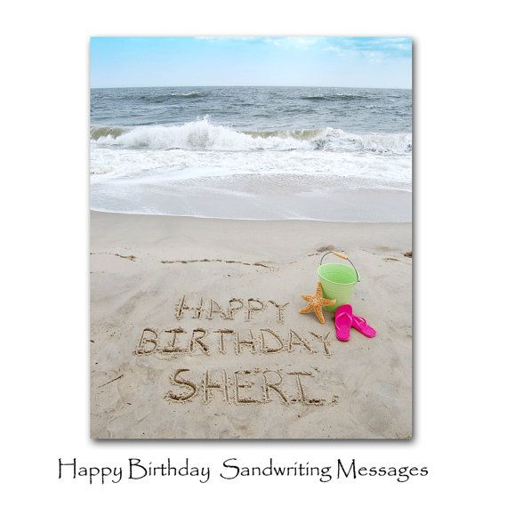 Happy Birthday Personalized 11x14 Sandwriting on Etsy, $48.00
