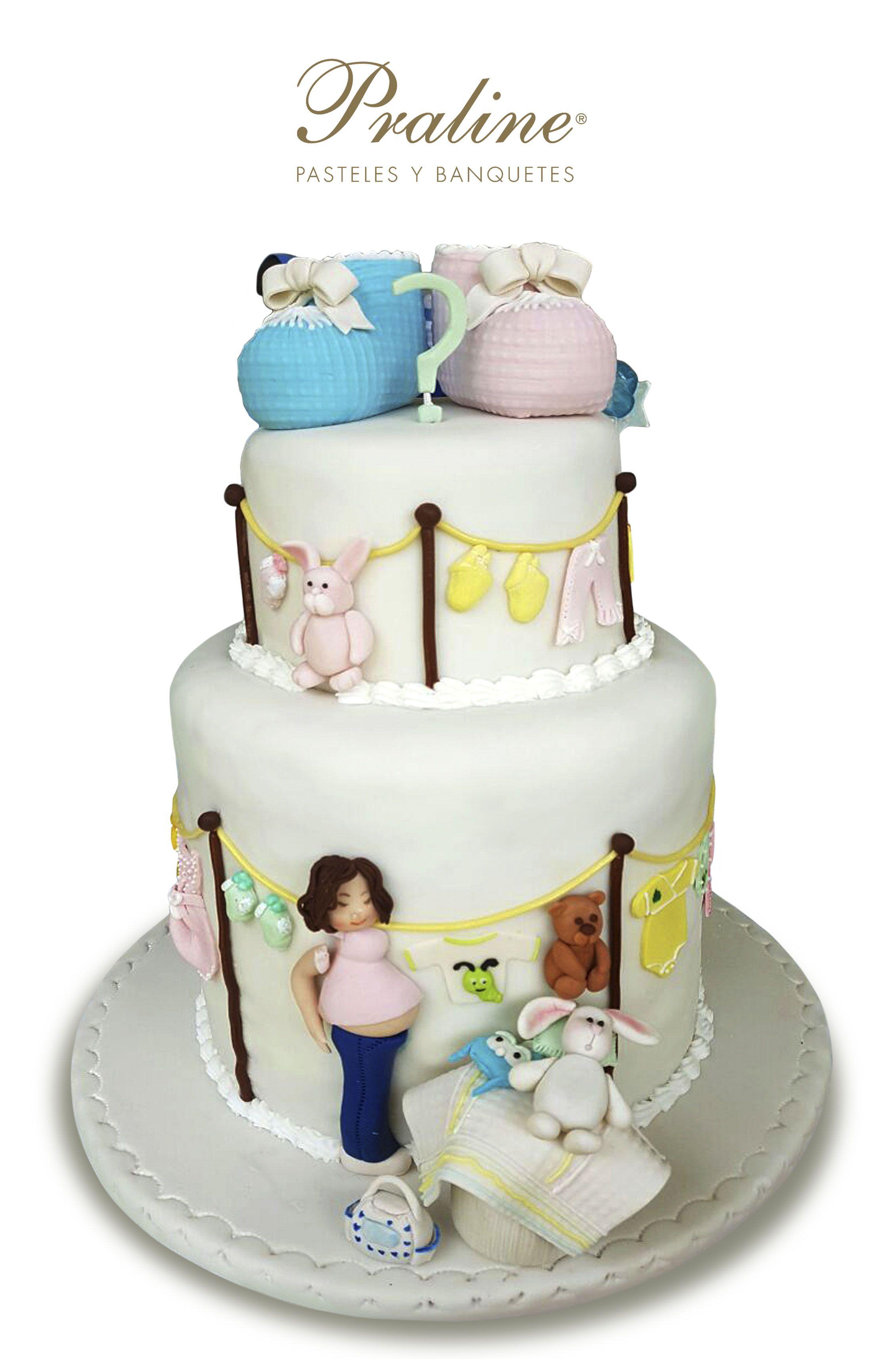Pastel Para Baby Shower ¿niño O Niña? Delicioso, Cuidando Hasta El último  Detalle