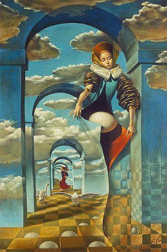 Surrealismo - Ilustración Michael Cheval.