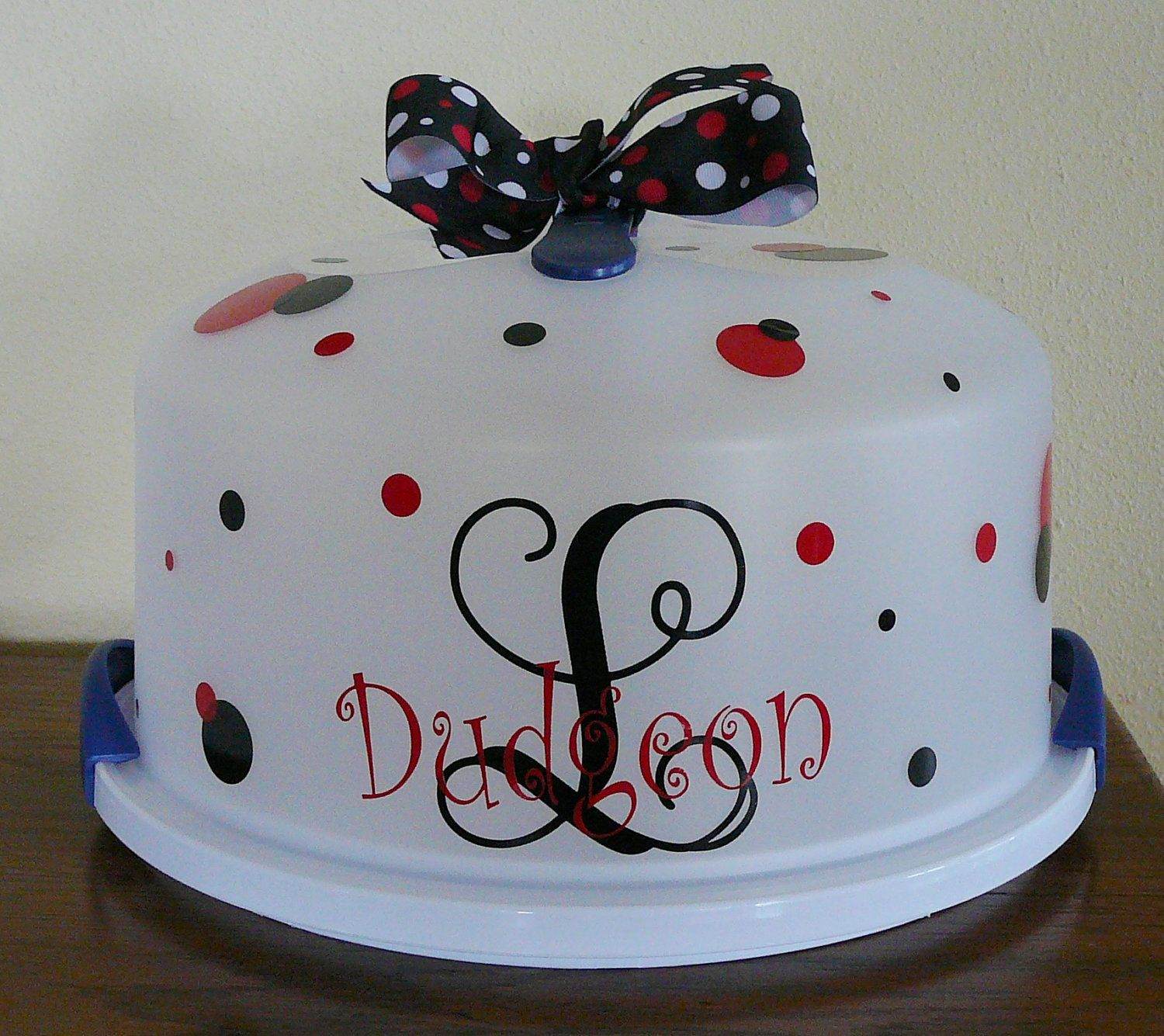 Cake Carrier Target Impressive Personalized Cake Carrier  Cake Carrier Personalized Cakes And Etsy Design Ideas