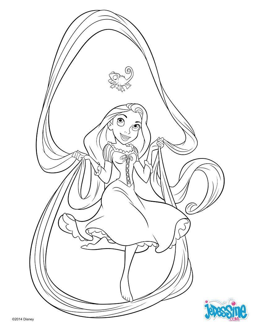 Épinglé par Светлана sur Rapunzel  Coloriage princesse, Raiponce