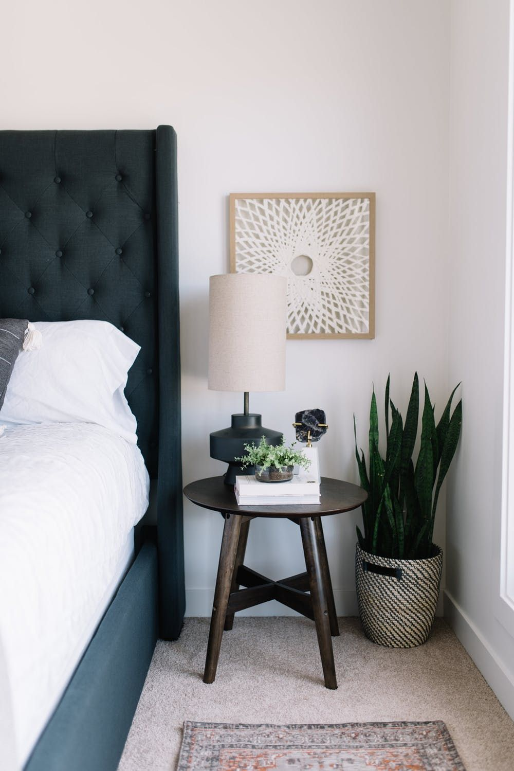 24 Ways To Style Your Bedside Table Bedside Table Decor Modern Bedside Table Side Tables Bedroom