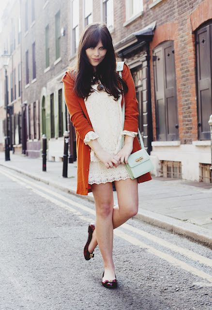 Red Flats & Cardigan   #red #streetfashion #london #lebunnybleu #outfits