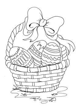Dibujos Para Colorear La Cesta De Pascua Bordes Y Marcos