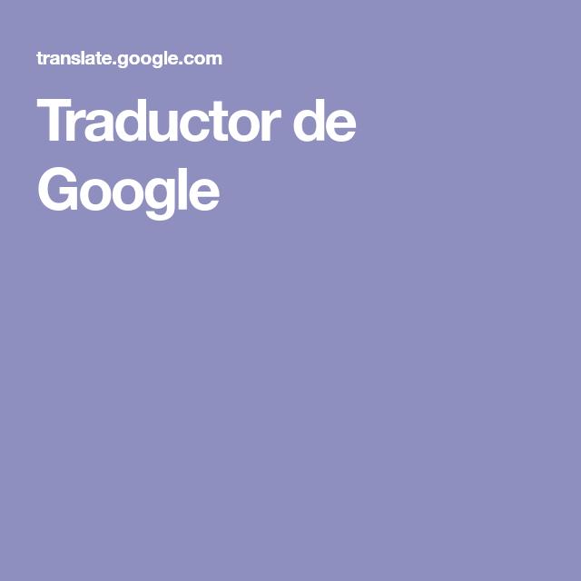 Traductor de Google | tejido | Pinterest | Traductor de google ...