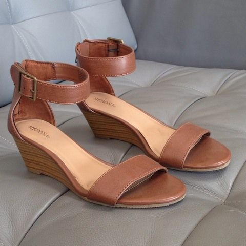 c2f9963c5c Light brown sandals with a small wedge Size 7 1/2 Only worn once ...