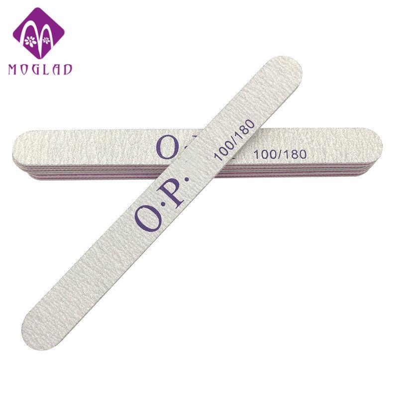 5PCS/lot polishing strip 100/180 long straight nail file customized ...