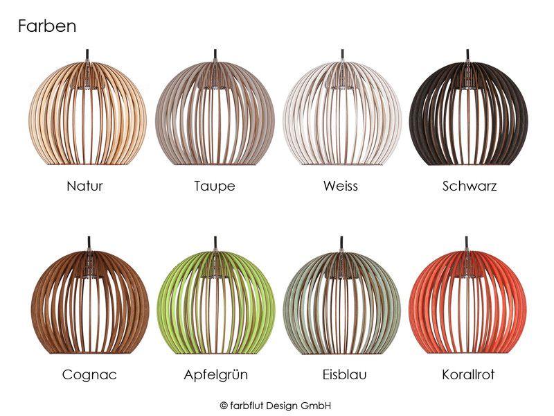 Pendelleuchte BOLA - Holz Leuchte 8 Farben | Theken, Kommode und ...
