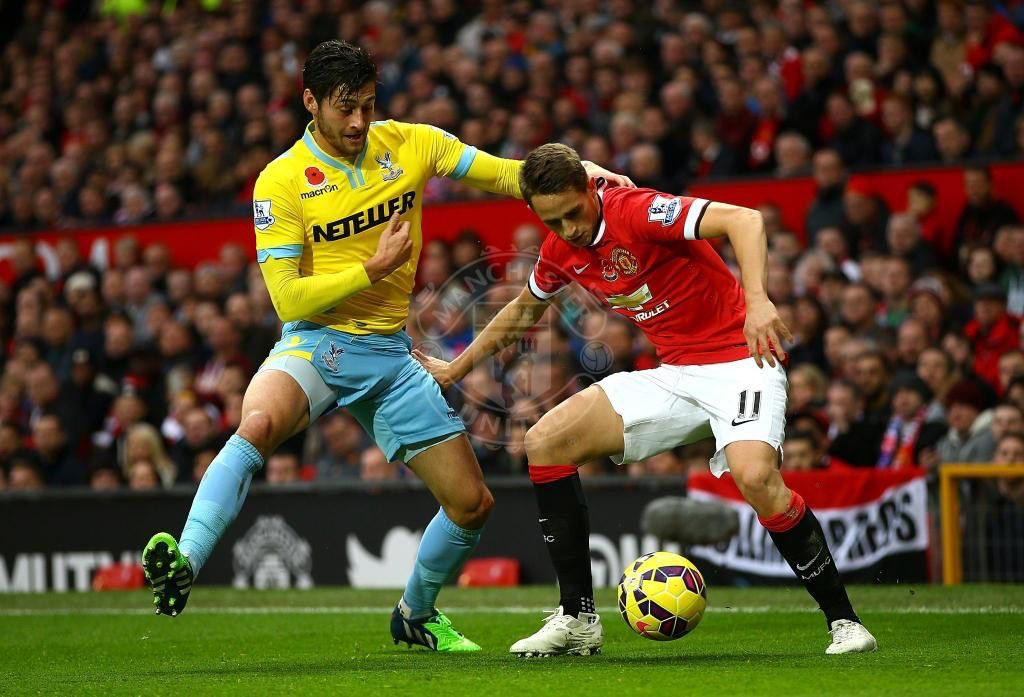 Januzaj, who struggled before being subbed in the 2nd half for Juan Mata. Vs Crystal Palace. 8.11.2014.