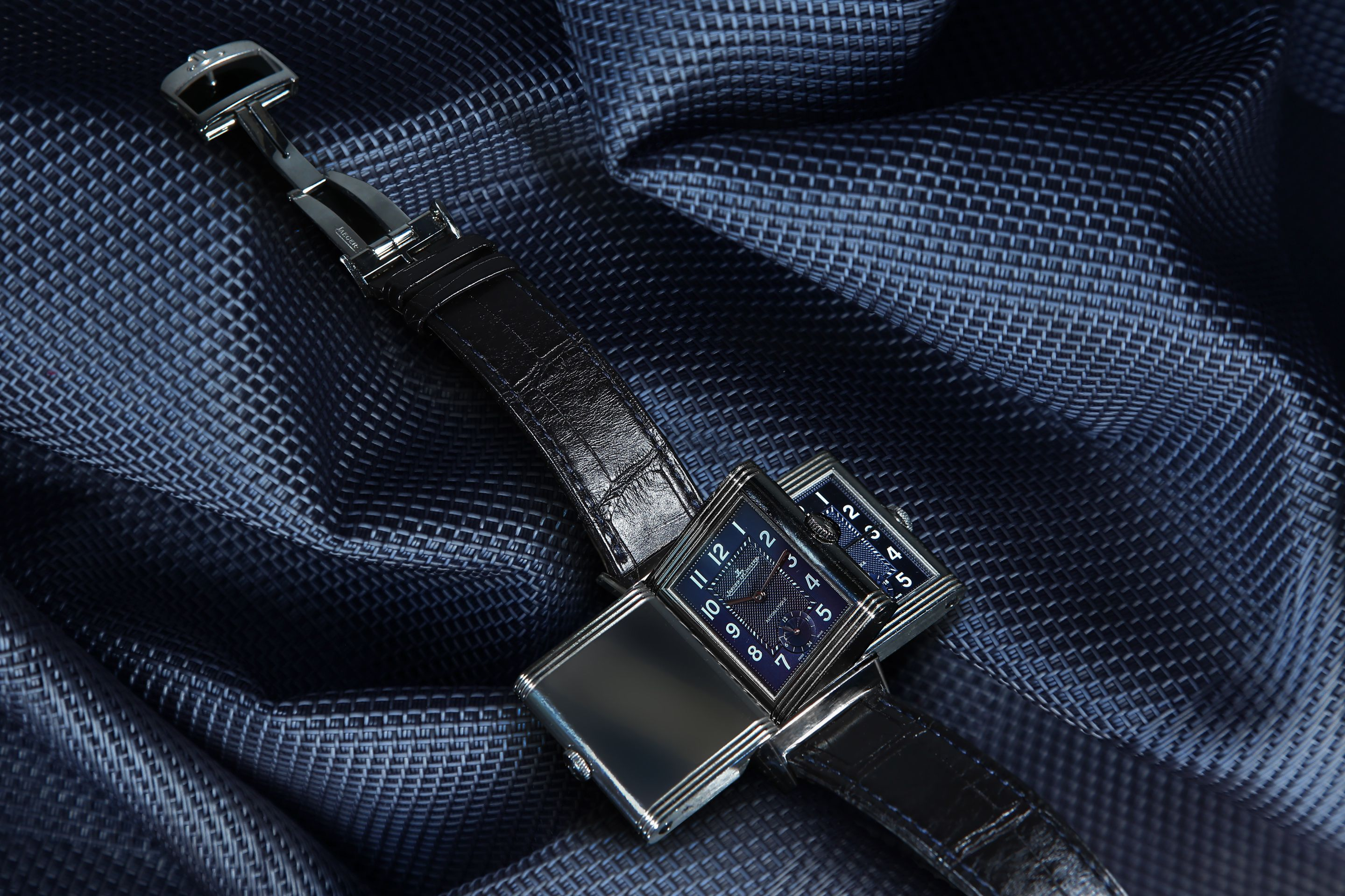 The Watch Gallery & Jaeger-LeCoultre Reverso Night & Day Watch. Creative Art Direction by @Fashitect