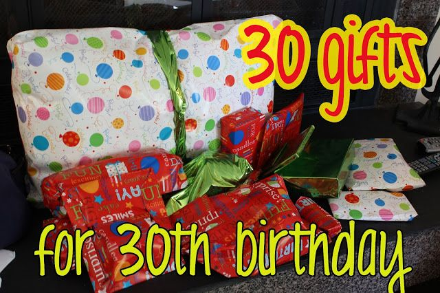 gift idea: 30 gifts for 30th birthday | Birthdays& Partys ...