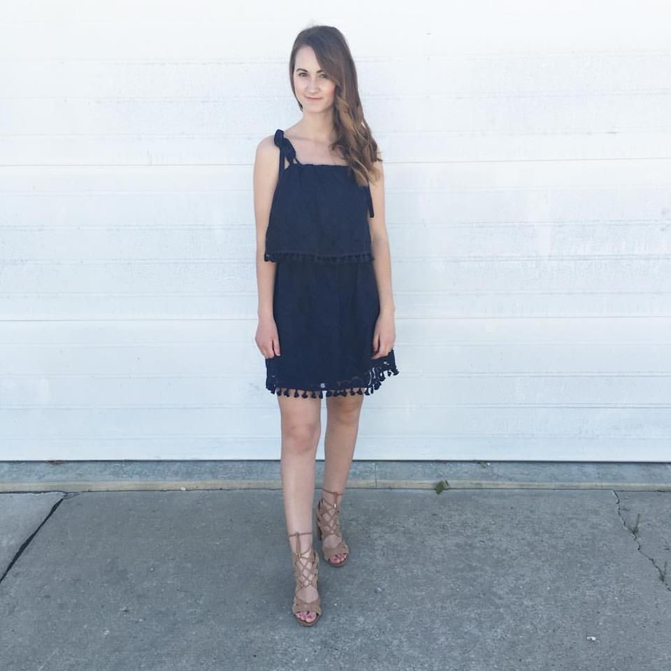 H&m blue lace dress  May Instagram Round Up   Dress lace Rounding and Tassels