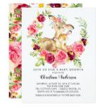 Mom & Baby Deer Baby Shower Invitation | Zazzle.com #babyhippo