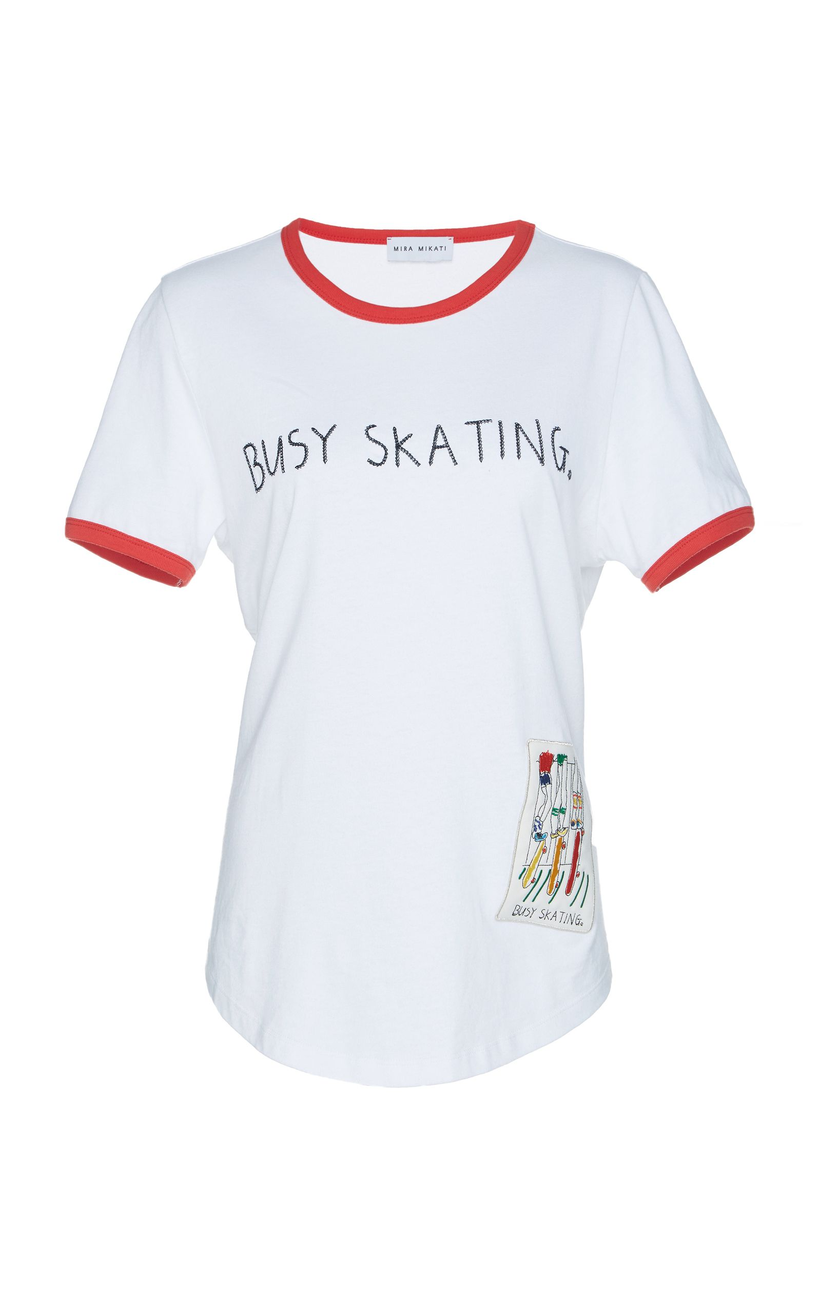 Busy Skating t shirt - White Mira Mikati Discount Newest View Online Clearance Store Cheap Online Recommend Cheap Online I7bX42hvLM