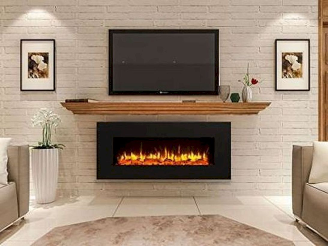 Awesome 49 Fabulous Tv Stand Decor Ideas For Living Room More At Https Decoratrend Com 2019 04 28 Living Room With Fireplace Home Fireplace Linear Fireplace