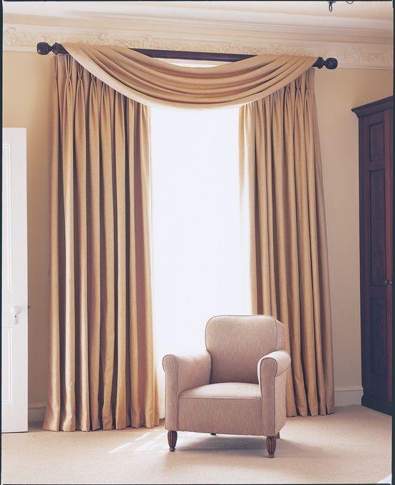 Prêt à Vivre Design Ideas - simple swag cortinas Pinterest - cortinas decoracion