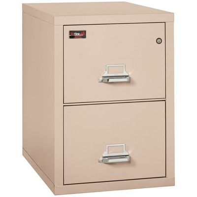 FireKing Fireproof 2 Drawer Vertical Filing Cabinet Finish: Champagne