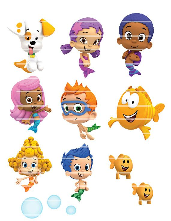 INSTANT DOWNLOAD Bubble Guppies party - Digital Printable File ...