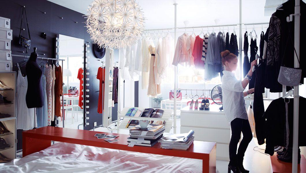 IKEA Österreich, Inspiration, Schlafzimmer, STOLMEN Eckgarderobe - schlafzimmer kommode mit spiegel