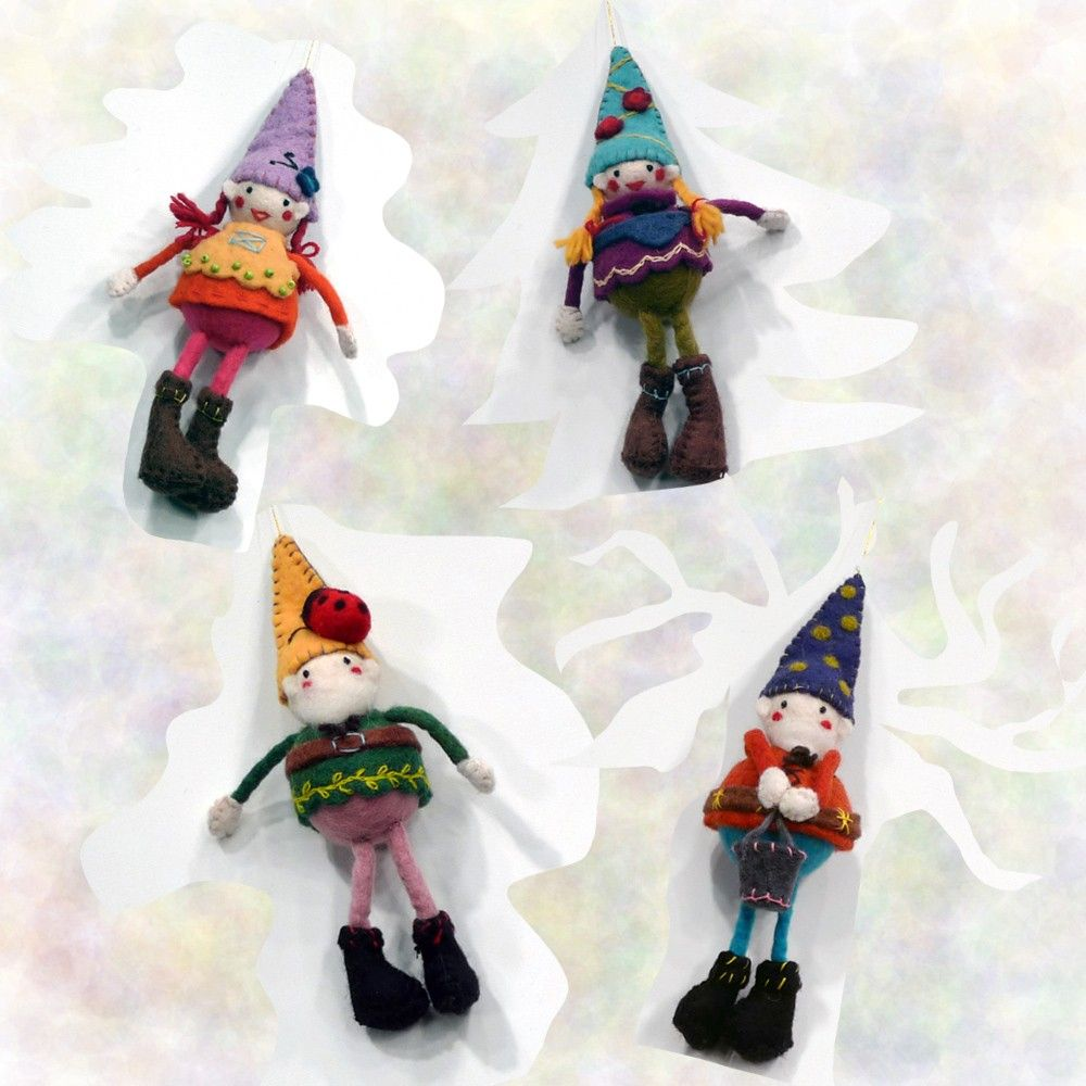 Icelandic Design Gnome Ornaments...Winter; He hides within the ...