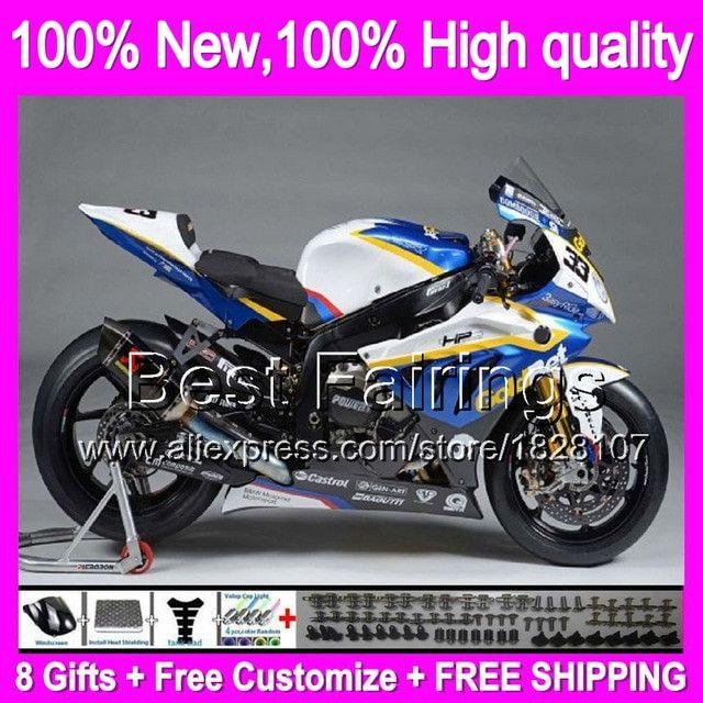 Fairing For BMW S1000RR Blue White 09 14 S 1000 RR S1000R