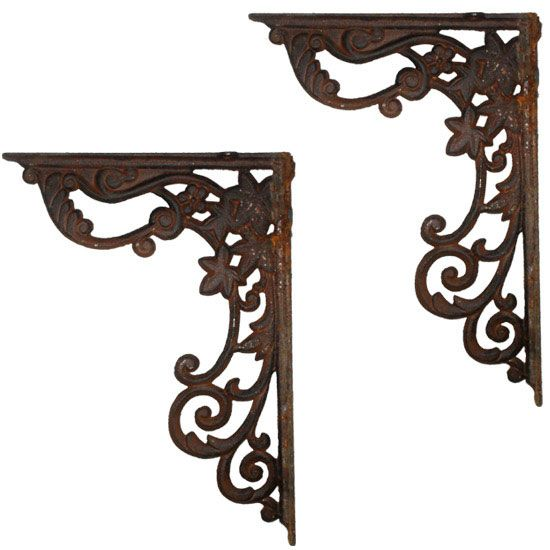 wrought iron supports rusted cast iron decorative shelf brackets at victorian plumbing uk. Black Bedroom Furniture Sets. Home Design Ideas