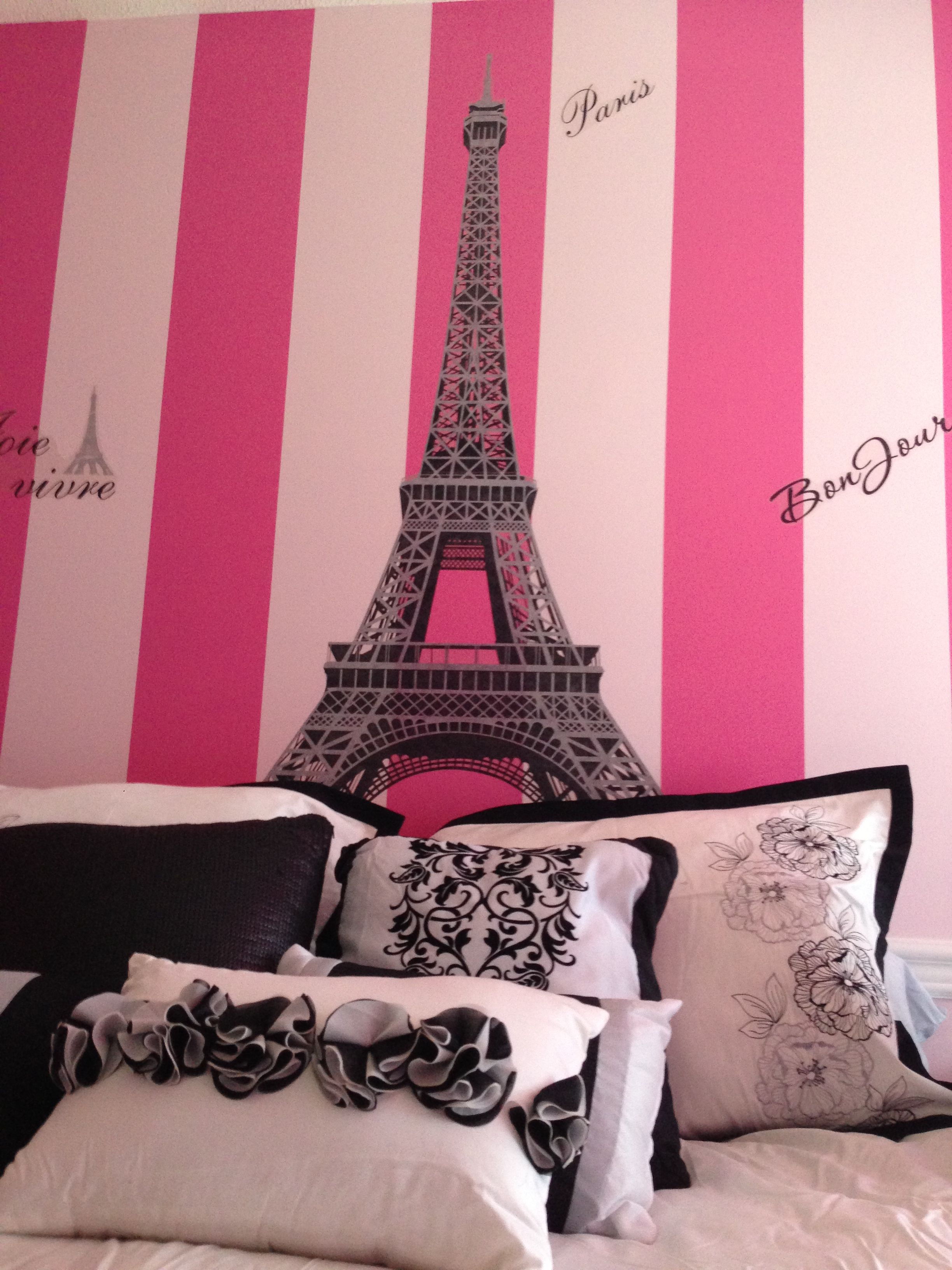 Paris Pretty Soft Pink Ruffles Eiffel Tower Fleur De Lis Feminine Inspiration Paris Chanel Dior Room Paris Bedroom Bedroom Decor