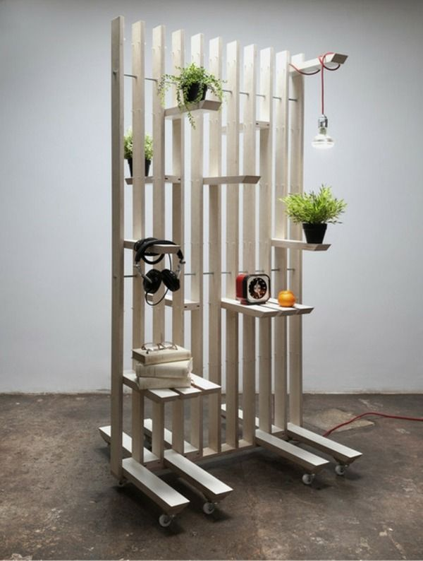 Meuble de rangement pratique par estudio ji maisons cie mobilier de salon cloison - Maison modulaire espagnole ...