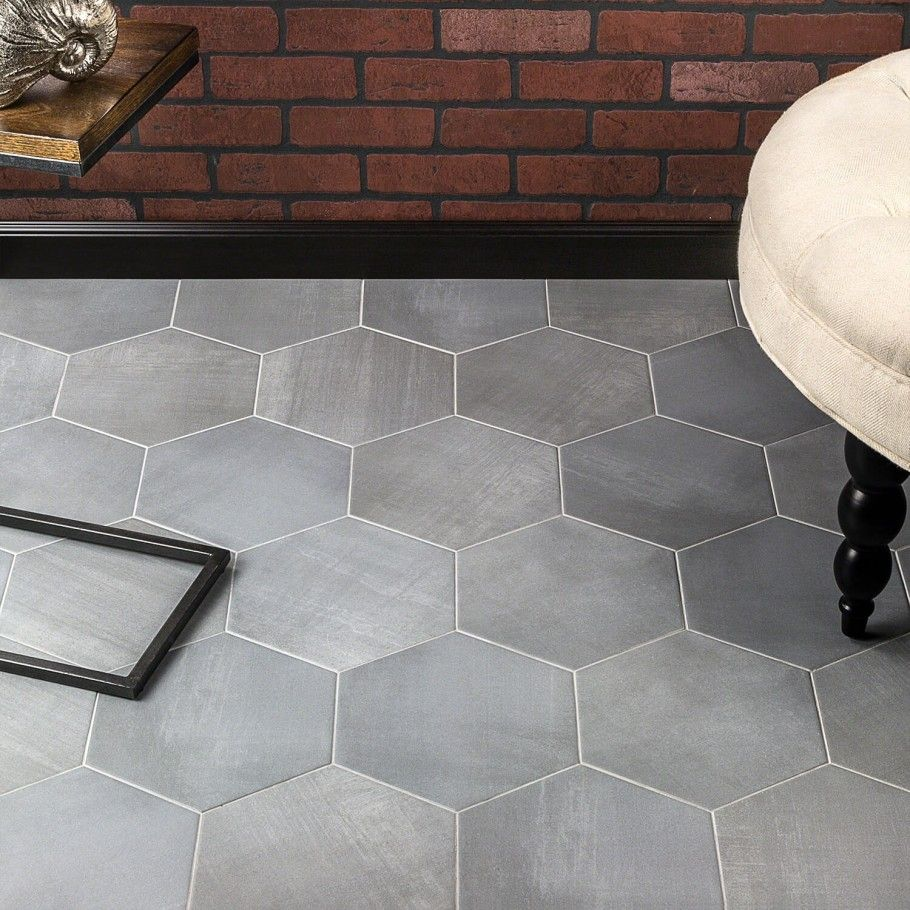 Paige Grigio 10 Porcelain Flooring Hexagon Tile Floor Flooring