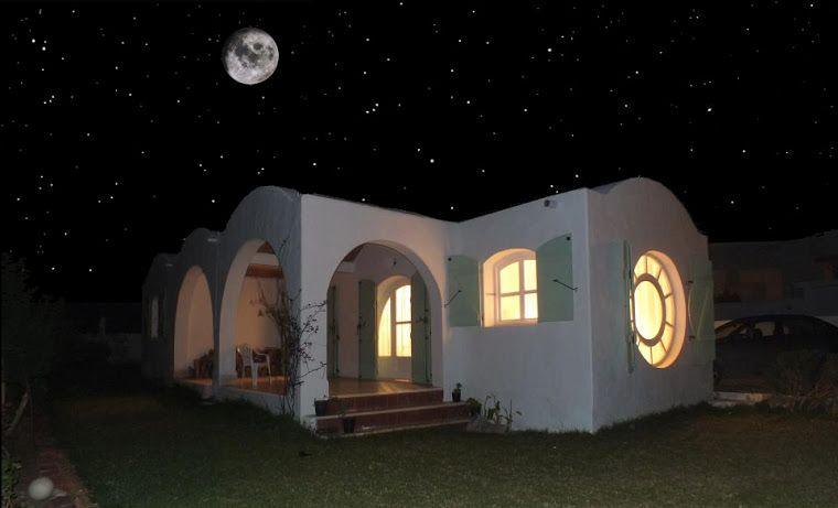 Pleine Lune, Maison de campagne, Haouaria, Tunisie Haouaria
