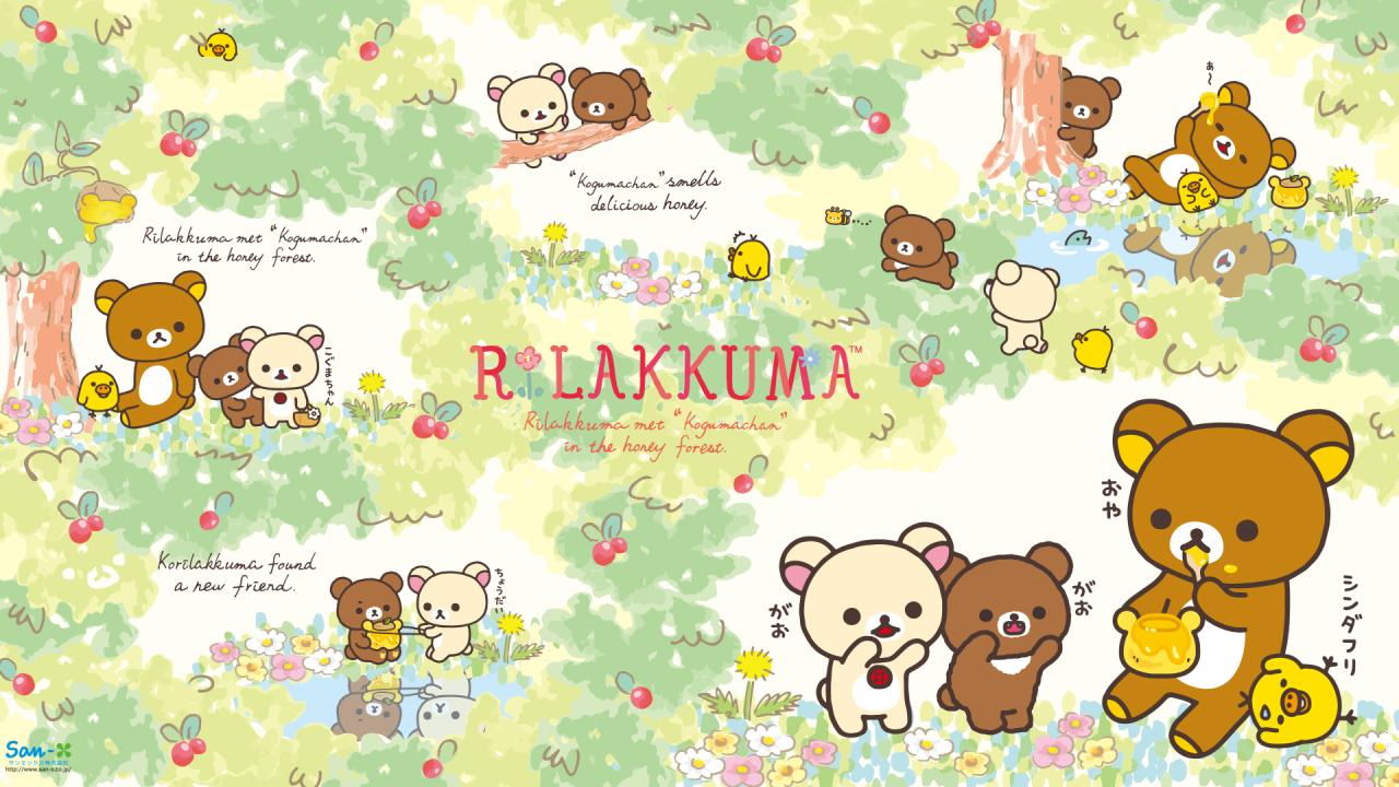 Rilakkuma Honey Bear Series Wallpaper • 1080x1920