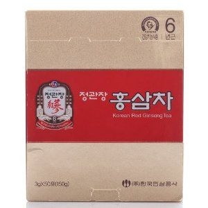 Cheong Kwanjang By Korea Ginseng Corporation Korean Red Ginseng Tea 3g × 50 Packets by Cheong Kwanjang By Korea Ginseng Corporation. $19.99. Korean Red Ginseng Tea [Available as: 3g × 5. A light and flavorful blend, this popular instant tea is made from six-year-old Korean Red Ginseng root extract and has a delicate flavoring of Korean Red Ginseng extract. Convenient to use, KRG Tea is contained in packets and made into quickly dissolving granules. KRG Tea contains a ...