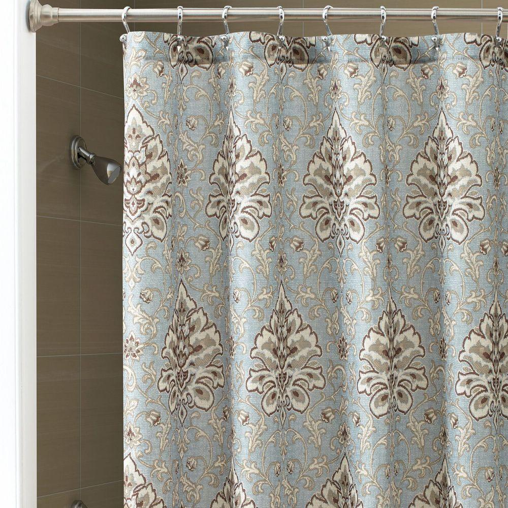 Chapel Hill Croscill Marietta Fabric Shower Curtain Brown Beige