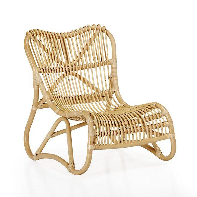 Arthur jardin Chaise relax rétro en rotin style vintage | Object ...