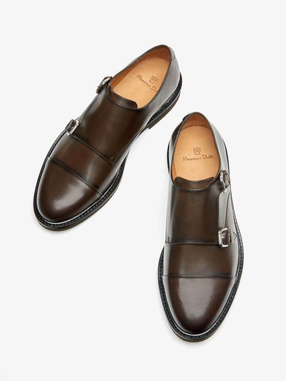 92b210a3f79 ZAPATO DOBLE HEBILLA PIEL MARRÓN de HOMBRE - Zapatos de Massimo Dutti de  Primavera Verano 2017 por 2395. ¡Elegancia natural!