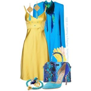 "~Yellow & Turquoise~ Contest: ""Slip Into It"""