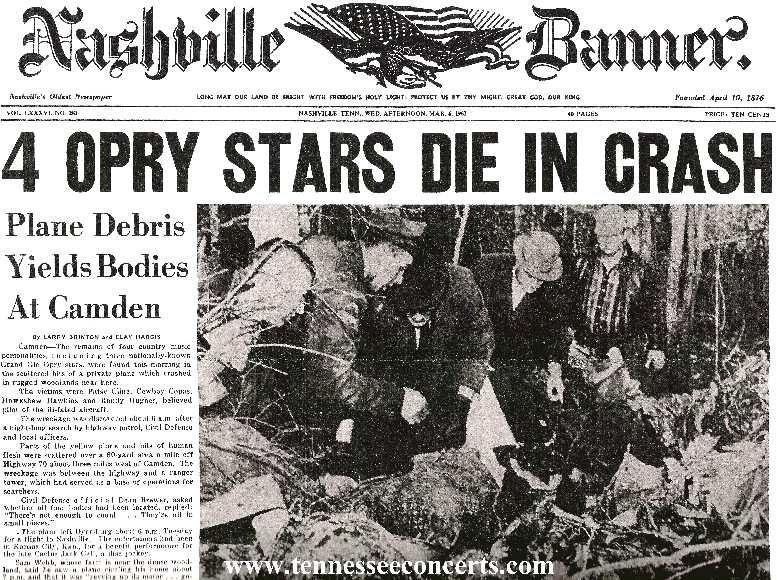 50 Years Ago Today Plane Crash Kills Patsy Cline, Cowboy