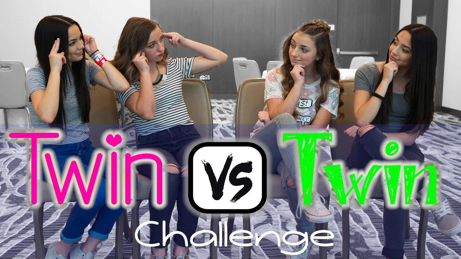Twin vs Twin Challenge | ft. the MerrellTwins