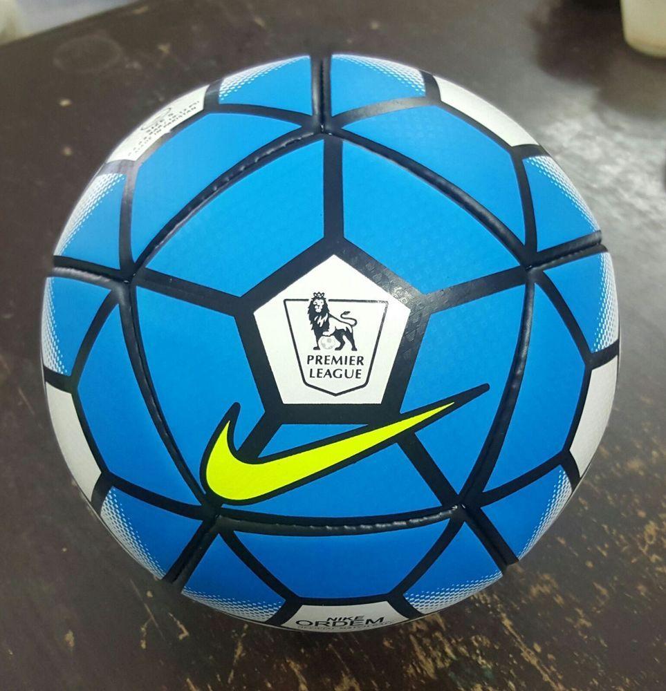 New Nike Ordem 3 Premier League Soccer Replica Ball Size 5 2015 16 Blue White Premier League Soccer Soccer Soccer Balls