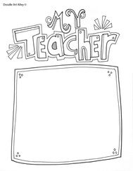 Free coloring pages and printables for Teacher