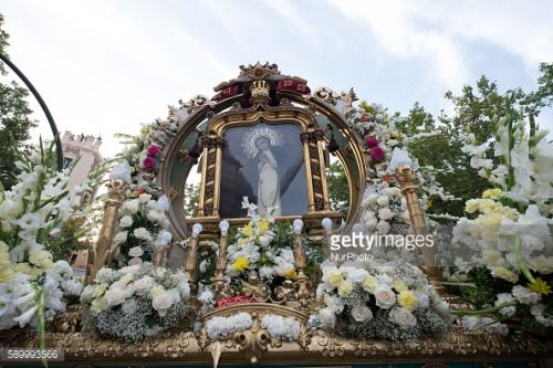 The Nuestra Senora de la Paloma procession in Madrid, Spain,... #saintemarielablanche: The Nuestra Senora de la… #saintemarielablanche