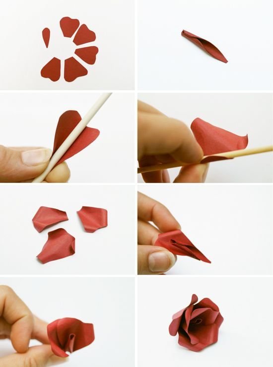Make this paper flower hair accessory diy diy paper for Diy paper roses step by step