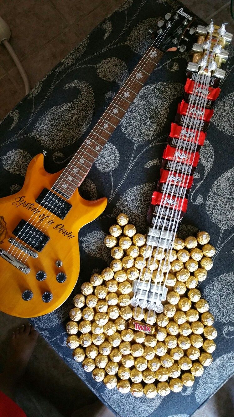 Candy guitar with images diy fathers day gifts
