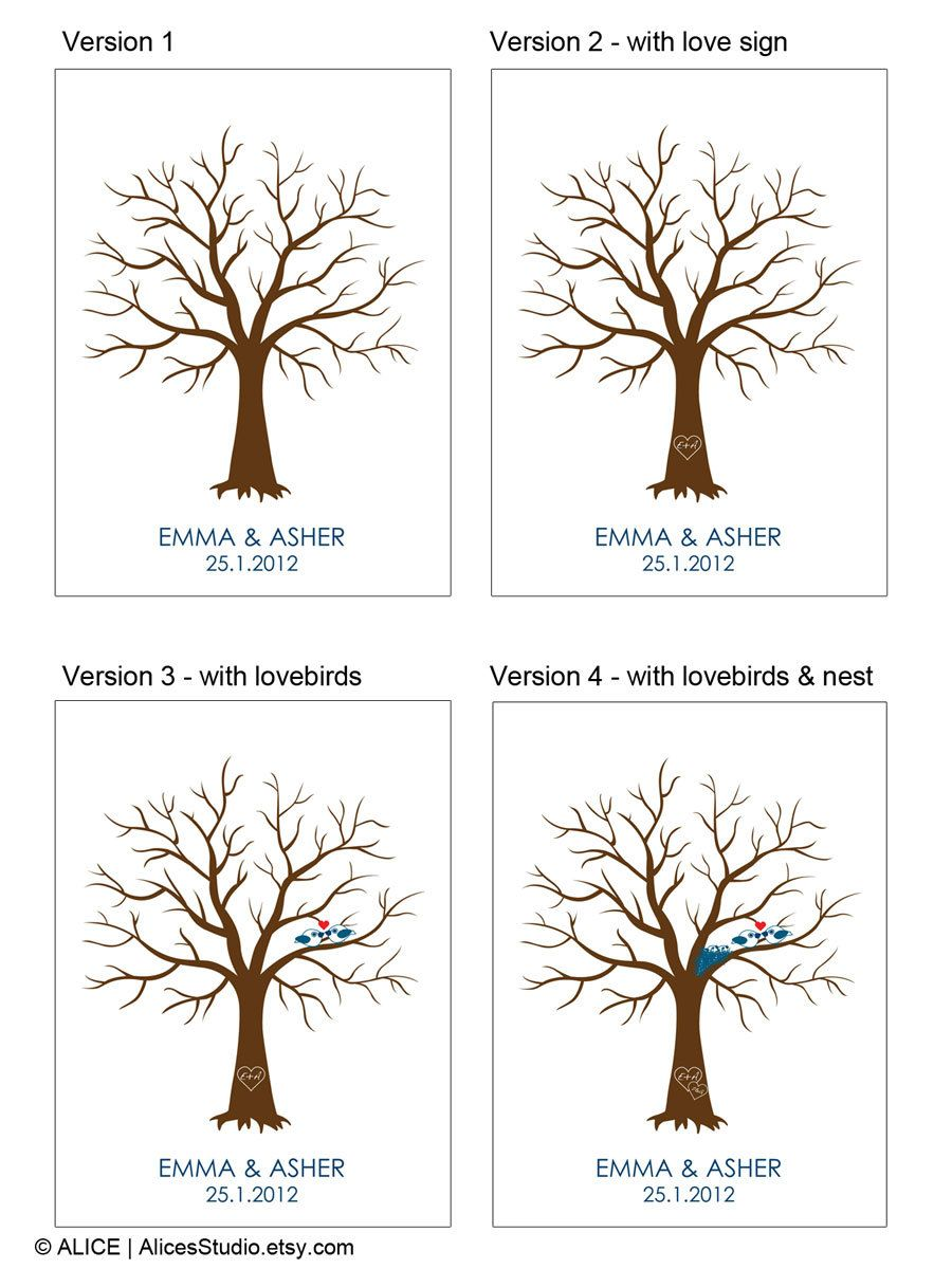 Diy Wedding Tree Guest Book Wedding Registry Personalized Guestbook Thumbprint Signature Guestbook Wedding Tree Guest Book Guest Book Tree Wedding Book